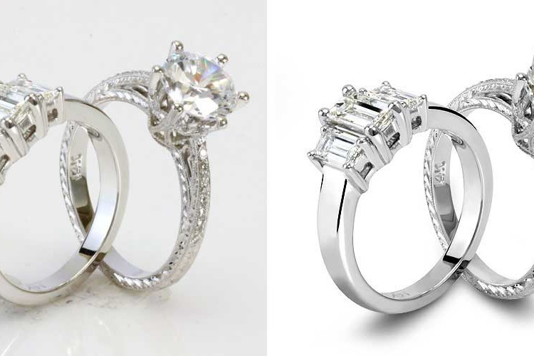 Diamond ring retouching